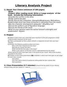Literary Analysis Project