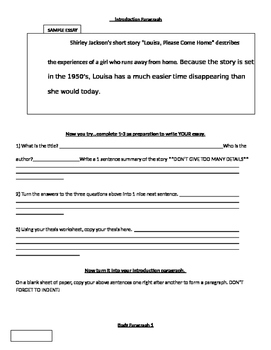 Literary Analysis essay step by Step Guide--READ 180