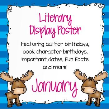 Literary Calendar Poster - January