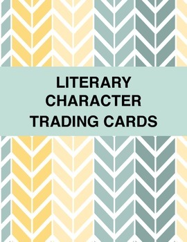 Literary Character Trading Cards