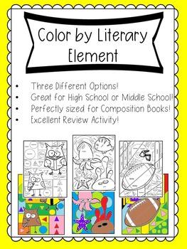 Literary Coloring Sheets