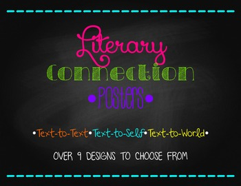 Literary Connection Posters: Text-to-Text, Text-to-Self, T