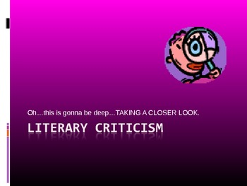 Literary Criticism--Top Lenses to See Literature