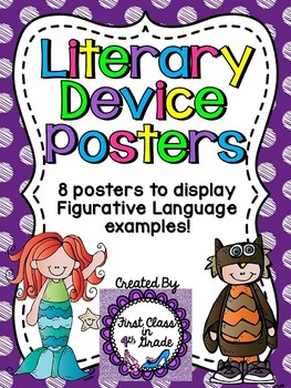 Literary Device & Figurative Language Posters (Colored Pol