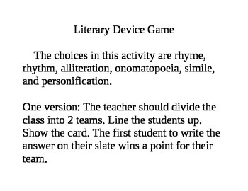 Literary Device Game