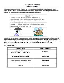 Literary Device Skill Book Assignment