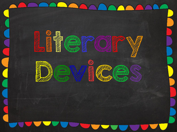 Literary Devices Chalkboard Posters