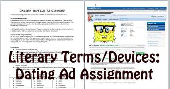 Literary Terms/Devices Review: Dating Ad Assignment