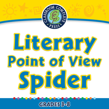 Literary Devices: Literary Point of View Spider - NOTEBOOK