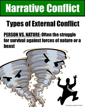 Literary Elements Conflict Person vs. Nature Poster