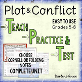 Plot and Conflict: Teach, Practice, Test