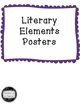 Literary Elements Posters - Bubble Border