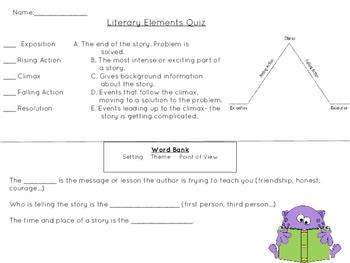Literary Elements Quick Quiz