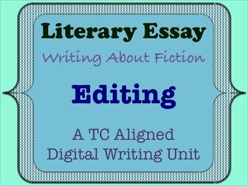 Literary Essay - Editing