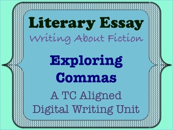 Literary Essay - Exploring Commas