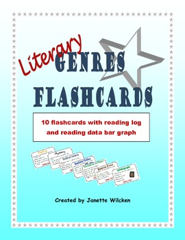 Literary Genres Flashcards with reading log