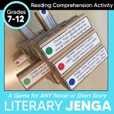 Literary Jenga: Reading Literature Game for ANY Novel Grades 7-12