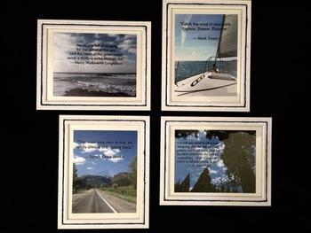 Literary Quote Photo Posters: cummings, Twain, Jewett, Longfellow