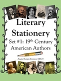 Literary Stationery  {Set #1: 19th Century American Authors}