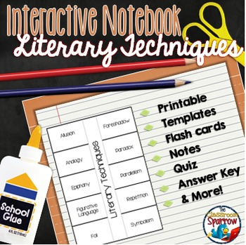 Literary Techniques: Interactive Notebook