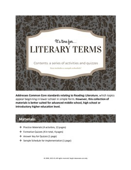 Literary Terms (Introduce, Practice, Master)
