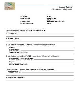 Literary Terms Macro Unit
