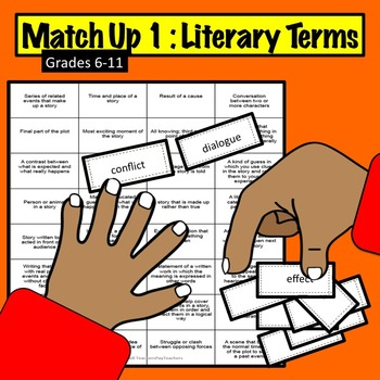 Match-Up #1 -Printable Activity: Literary Terms Game