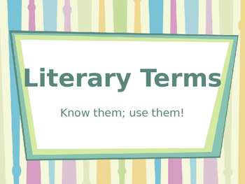 Literary Terms (Part 2)