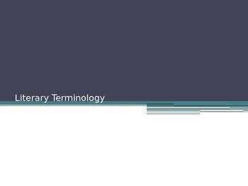 Literary Terms PowerPoint Sample