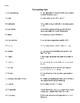 Literary Terms Quiz