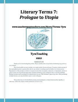 Literary Terms by Examples 7: Prologue to Utopia