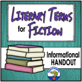 Literary Terms for Fiction Handout