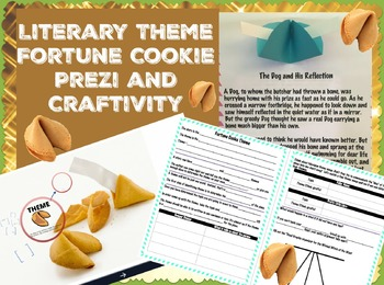 Literary Theme Fortune Cookie Prezi with Differentiated Cr