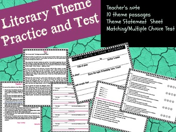 Literary Theme Practice and/or Test