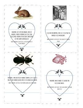 Literary Valentine Printable: Steinbeck, Poe, Miller, Kafka