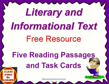 Literary and Informational Text FREEBIE: 5 Reading Passage