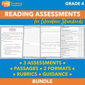 Fourth Grade Literature Assessments - Constructed Response