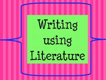 Literature Based Writing Lesson (Imogene's Antlers)