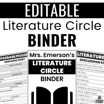 Literature Circle Binder for ANY Grade!