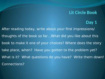 Literature Circle Daily Responses