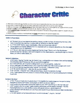 Literature Circle Discussion Points for The Wanderer by Sh
