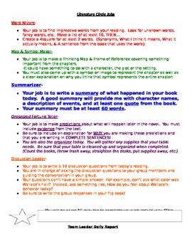 Literature Circle Handouts