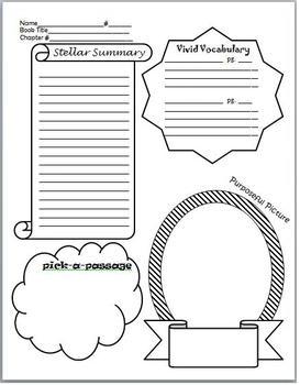Literature Circle Homework Sheet