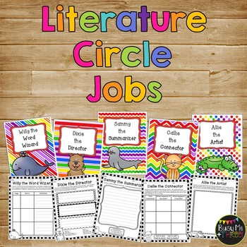 Literature Circle JOBS for Guided Reading Groups in the Pr