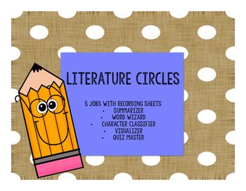 Literature Circle Jobs and Worksheets