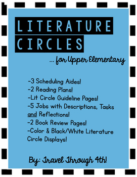 Literature Circle Jobs for Upper Elementary!