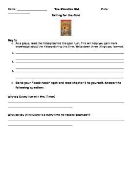 Literature Circle Questions: Klondike Kid (gold rush)