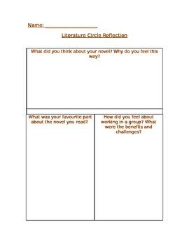 Literature Circle Reflection