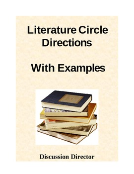 Literature Circle Role Directions and Examples