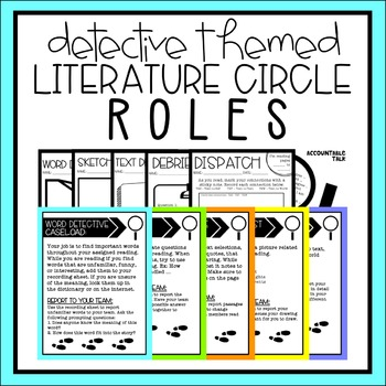 Literature Circle Roles - Detective Themed